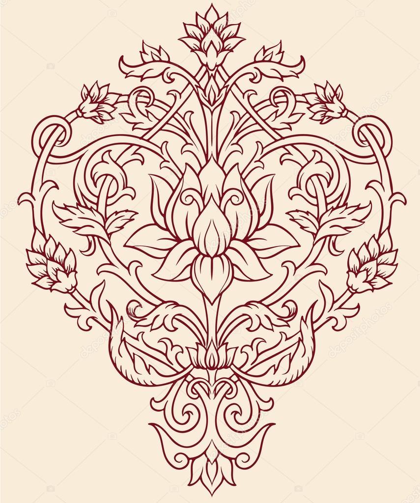 Талисман лотос, сердолик, h=3см