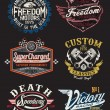 图库矢量图片: Vintage Motorcycle Themed Badge Vectors