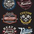 Vintage Motorcycle Themed Badge Vectors — Stock Vector