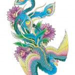Japanese Peacock — Stock Vector #30353585