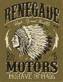 Vintage Americana Motorcycle Design — Stock Vector