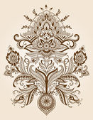 Henna Paisley Lace Flower Vector — Stock Vector