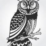 Декоративные сова — Cтоковый вектор