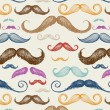 Vintage Mustache Seamless Pattern — Stock Vector #31278615