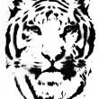 Tiger Stencil Vector — Stock vektor
