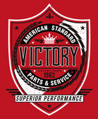 Vintage Americana Style Victory Label Vector — Stock Vector