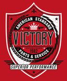 Vintage Americana Style Victory Label Vector — Stock Vector