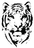Tiger Stencil Vector — Stock Vector