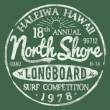 Stock Vector: North Shore Surf Themed Vintage Design