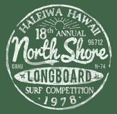 North Shore Surf Themed Vintage Design — Stock Vector