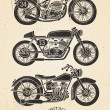 Vintage Motorcycle Set — Stock Vector #32217415