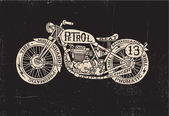 Type Filled Vintage Motorcycle — Stock Vector