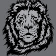 Lion Head Vector — Vector de stock #34697701