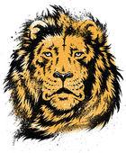 Lion Head Stencil Vector — Stock Vector