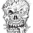 Sketchy Zombie Head — Stock Vector #35156707