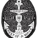 Vintage Hand Drawn Flourish Anchor Badge — Stock Vector #39483355