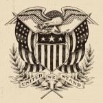 Hand Drawn American Eagle Linework — Stock Vector #40494689