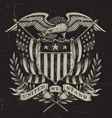 Hand Drawn American Eagle — Stock Vector