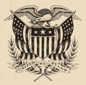 Hand Drawn American Eagle Linework — Stock Vector