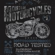 Vintage Motorcycle T-shirt Graphic — Stock Vector
