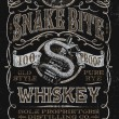 Vintage Whiskey Label T-shirt Graphic — Stock Vector