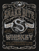 Vintage Whiskey Label T-shirt Graphic — Vector de stock