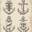 Hand Drawn Anchor Set — Stock Vector #44111073