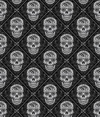 Day of the Dead Seamless Pattern — Stock Vector
