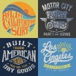 Vintage T-shirt Graphic Set — Stock Vector #47732895