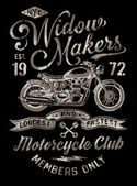 Hand Painted Vintage Motorcycle Graphic — Vector de stock