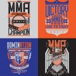 MMA t-shirt design emblem set — Stock Vector #51132051
