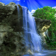 Magical waterfall — Stock Photo