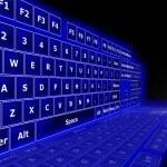 3D keyboard — Stock Photo