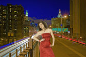 Lady in red — Fotografia Stock