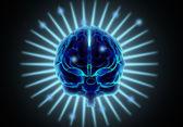 Bilgisayarlı beyin — Stok fotoğraf