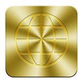 Golden web Button — Stock Photo