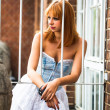 Young redhaired woman — Stockfoto