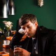 Man at a bar — Stock Photo