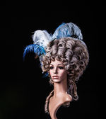 Periwig in baroque style — Stock Photo