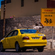 Yellow taxi - Stock Photo