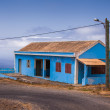 Blue house — Foto Stock