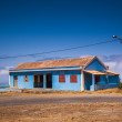 Blue house — Stock Photo