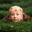 Girl playing hide and seek — Stock Photo