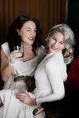 Dvě nevěsty — Stock fotografie