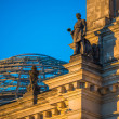Statue on the Reichstag — Stock Photo