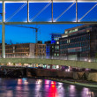 Berlin Spree river bank — Stock Photo
