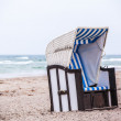 White beach chair — Stock Photo