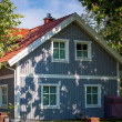 Blue house — Stockfoto
