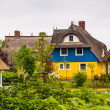 Blue and yellow house — Stock Photo