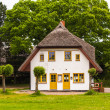 White thatched house — Stock Photo